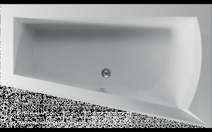 Vana plastová Teiko tvarovaná Nera 160 P 160x100x51cm bílá