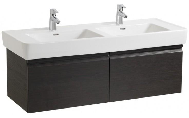 Nábytek skříňka pod umyvadlo Laufen Pro pod dvojumyvadlo 122x39x45 cm wenge-wenge