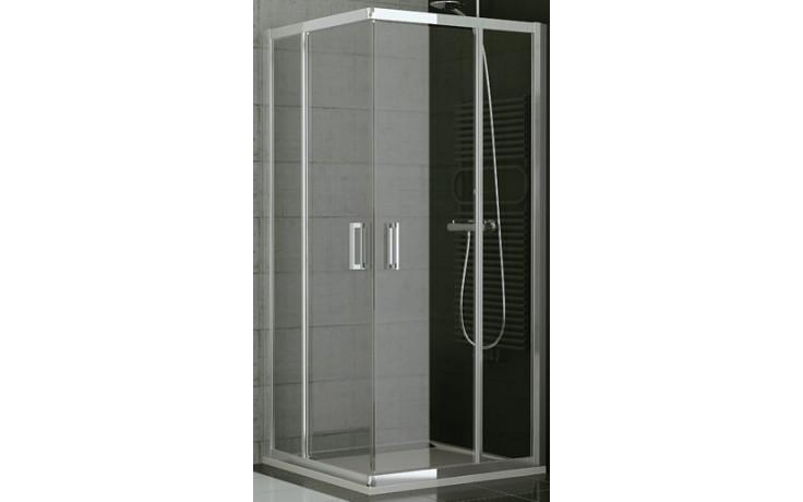 SANSWISS TOP LINE TED2 D sprchové dveře 800x1900mm, pravé, dvoukřídlé, rohový vstup, aluchrom/čiré sklo