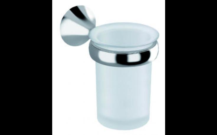 JIKA BASIC držák s pohárkem 7,8x13,4x11,2cm, levý, chrom