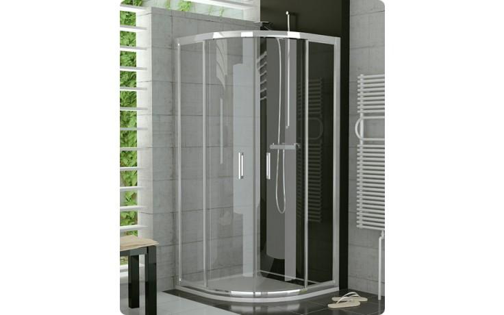 Zástěna sprchová čtvrtkruh Ronal sklo Top Line TOPR 55 080 04 07 800x1900 mm bílá/čiré AQ