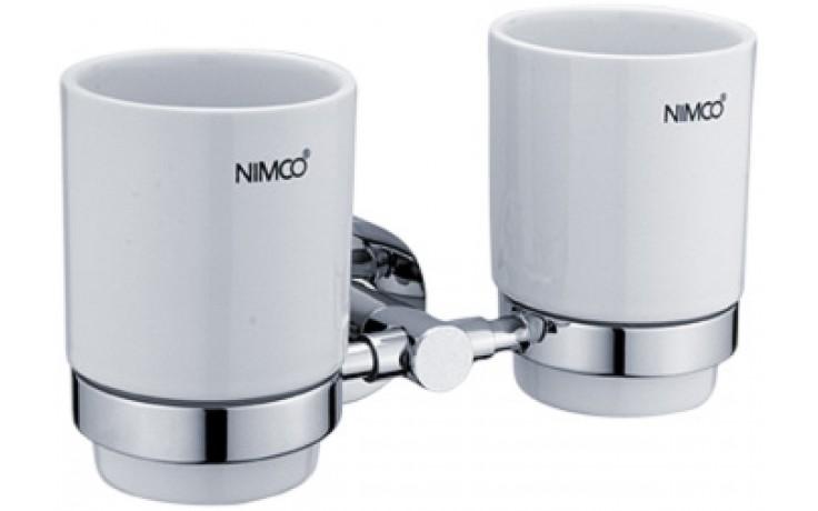 NIMCO UNIX držák se skleničkou 210x110mm chrom/bílá UN 13058DK-26