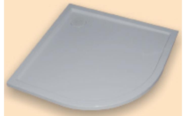 Vanička litý mramor Huppe čtvrtkruh Purano 120x90cm bílá