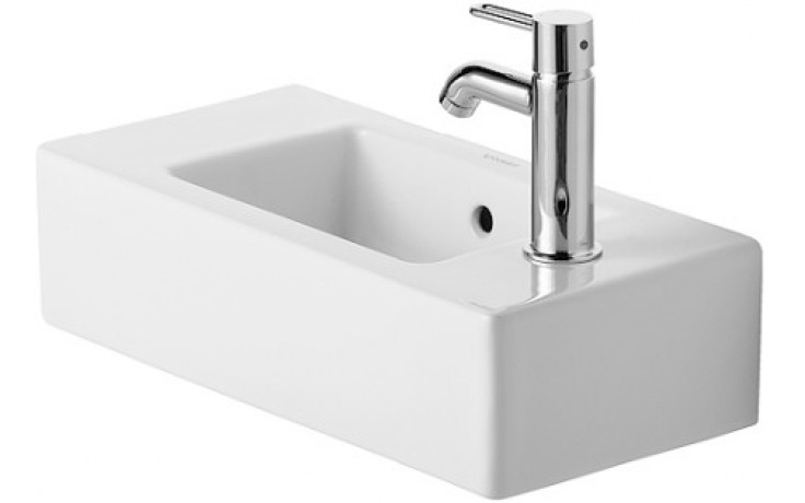 DURAVIT VERO umývátko do nábytku 500x250mm s přetokem, bílá/wonder gliss 07035000081