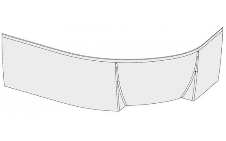 RAVAK ROSA II L panel 1500x565mm levý, bílá