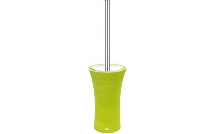 NIMCO ATRI toaletní WC kartáč 110x110x485mm stojánkový žlutozelená/chrom AT 5094-75