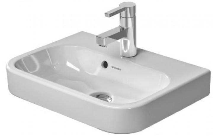 DURAVIT HAPPY D.2 nábytkové umývátko 500x360mm s přetokem, bílá 0710500000
