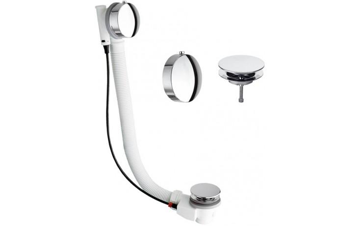 SILFRA vanový sifon plastový s automatickým ovládáním 475mm chrom 061770051