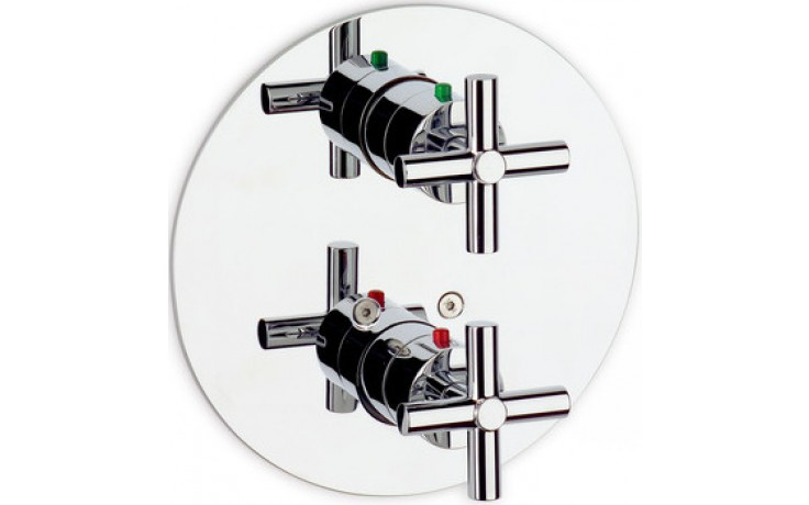 ROCA LOFT vrchní sada vanové-sprchové termostatické podomítkové baterie s přepínačem chrom 75A0643C00