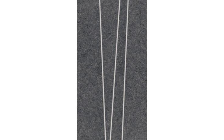 RAKO ROCK dekor 30x60cm černá DDVSE635