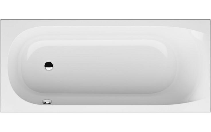 GKI FOX klasická vana 1700x750mm s přepadem vlevo, akrylátová, bílá