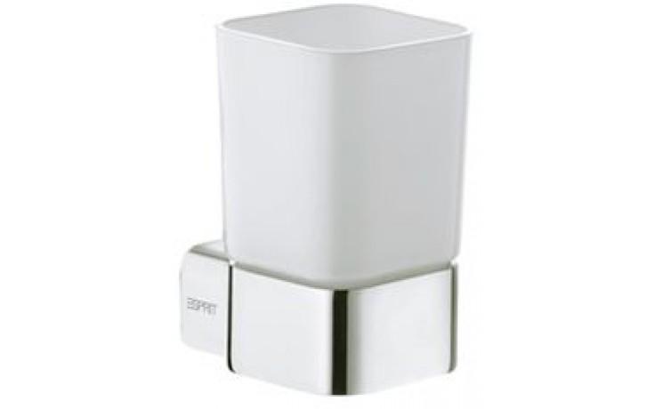ESPRIT držák se skleničkou 87x110mm, sklo/chrom