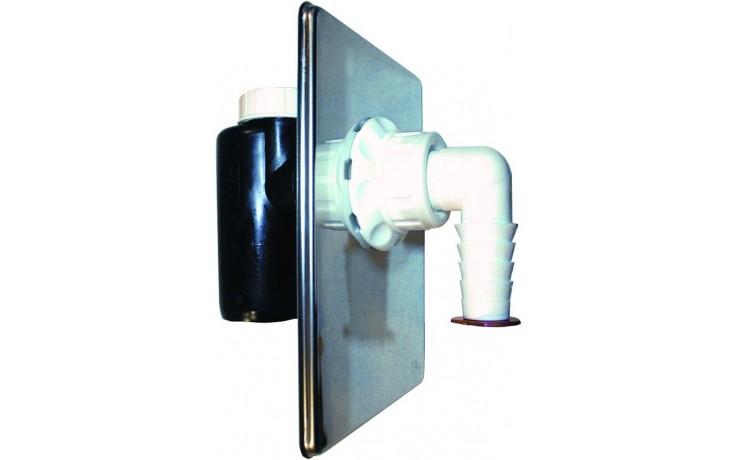 HL zápachová uzávěra DN40/50 podomítková, mechanická, pro pračku, myčku, polyethylen