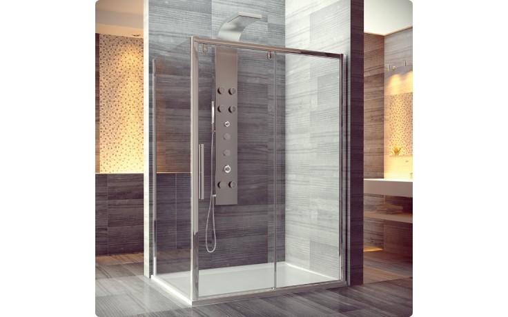 Zástěna sprchová boční Ronal sklo Pur Light S PLST 080 50 07 800x2000 mm aluchrom/ transparent AQ