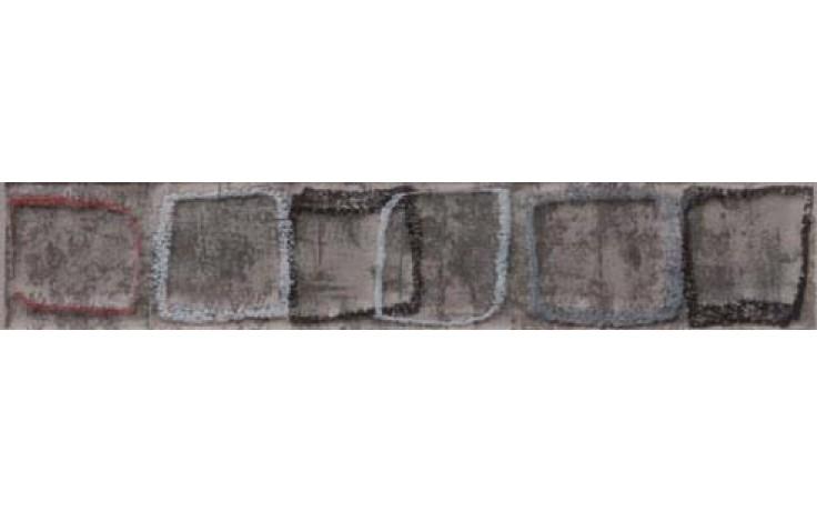 Listela Rako Concept Monopoli 25x4,5 cm tm.šedá