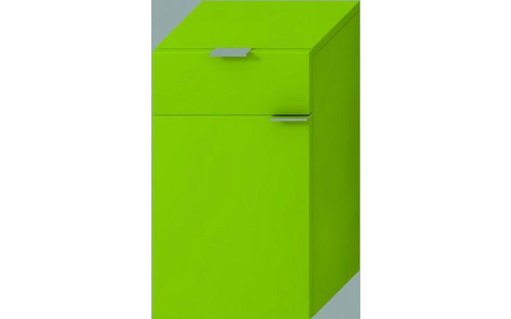 JIKA TIGO střední hluboká skříňka 300x363x510mm levá, zelená 4.5520.3.021.156.1