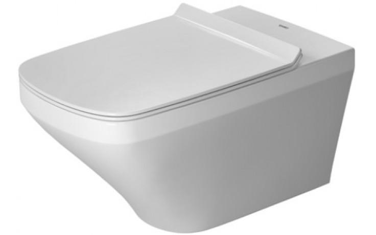 WC závěsné Duravit odpad vodorovný DuraStyle s hlubokým splachovaním, vč. upev.Durafix 37x62 cm bílá+WonderGliss
