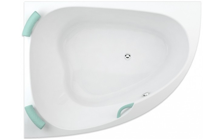 TEIKO SPINELL 160 L vana 160x125x55,5cm, rohová, akrylát, bílá