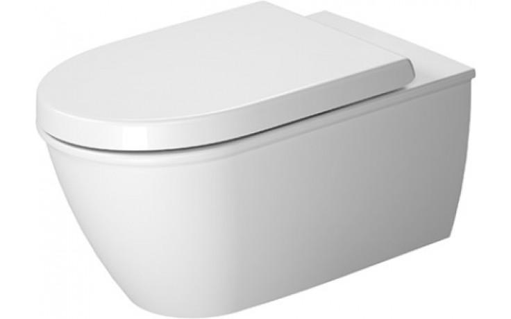 DURAVIT DARLING NEW závěsný klozet 370x620mm s hlubokým splachováním, bílá/wonder gliss 25440900001