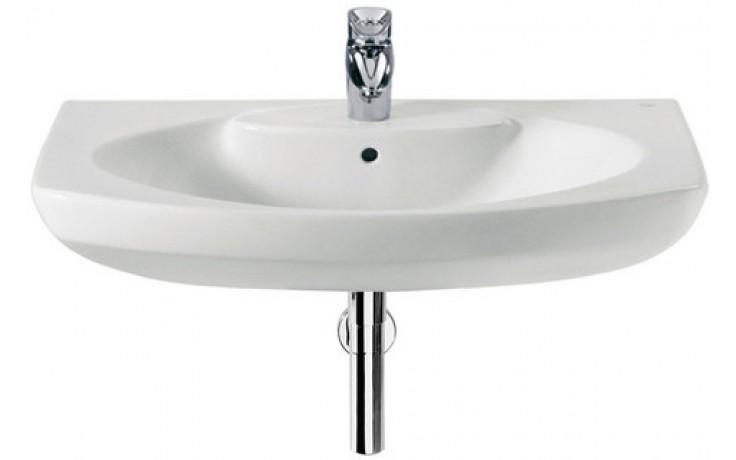 Umyvadlo klasické Roca s otvorem Dama Senso s instalační sadou 55 cm bílá