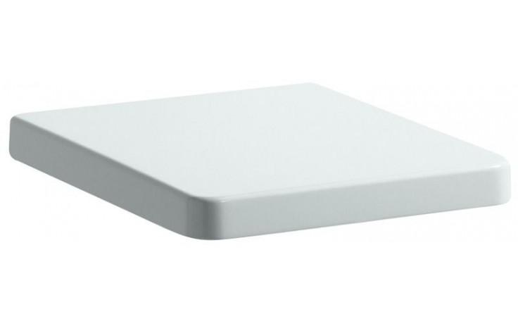 LAUFEN LIVING sedátko s poklopem 468x368x52mm odnímatelné, s automatickým sklápěním a antibakteriální úpravou, bílá 8.9243.4.300.000.1