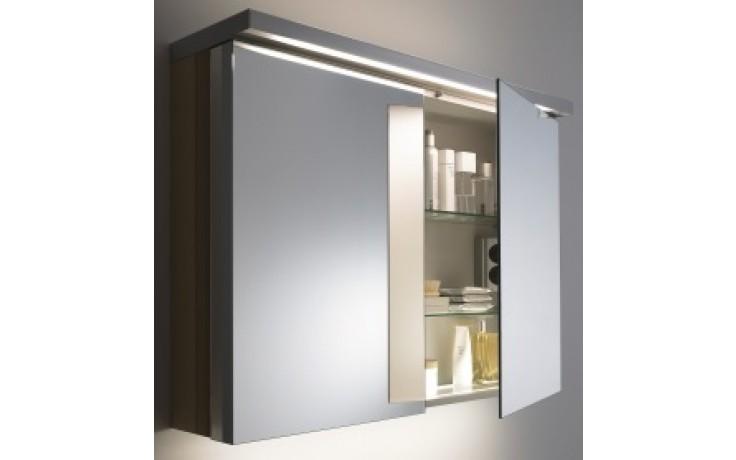 DURAVIT FOGO zrcadlová skříňka 600x210/263mm americký ořech/americký ořech FO967201313