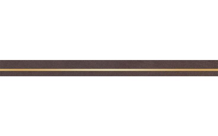 Listela Rako Light 60x4,5 cm hnědá