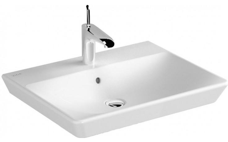 Umyvadlo klasické Vitra s otvorem T4 použití na desku 60 cm bílá