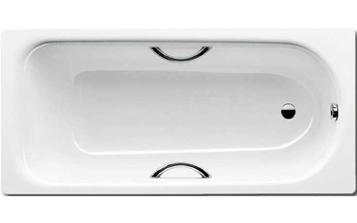 KALDEWEI SANIFORM PLUS STAR 345 vana 1600x750x480mm, ocelová, obdélníková, bílá Perl Effekt, celoplošný Antislip 134534013001