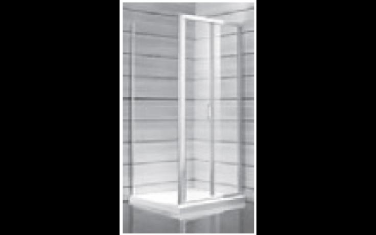 JIKA LYRA PLUS sprchové dveře 800x1900mm, pravolevé, skládací, stripy