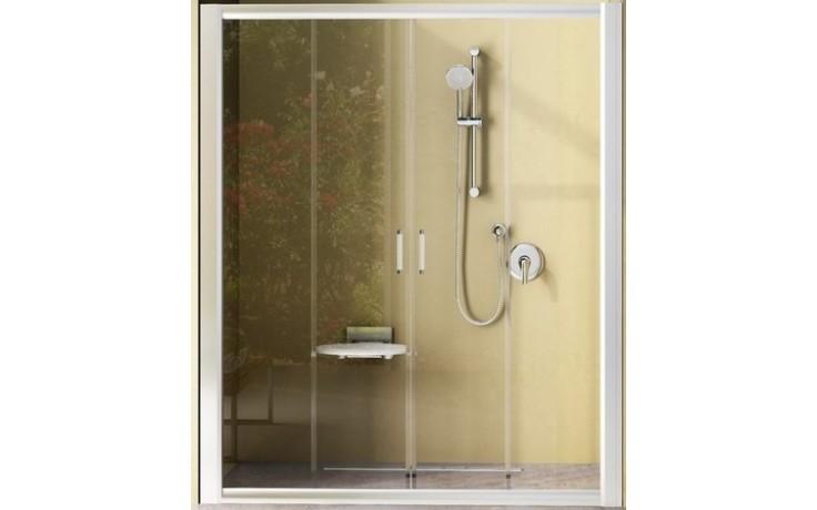 RAVAK RAPIER NRDP4 160 sprchové dveře 1570-1610x1900mm čtyřdílné, posuvné, bílá/grape 0ONS0100ZG