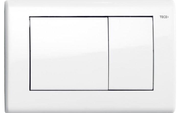TECE PLANUS ovládací tlačítko 214x144mm, dvoumnožstevní splachování, bílá/hedvábně matná