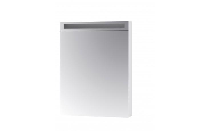 Nábytek zrcadlová skříňka Dřevojas MAX 60 L/P s LED osvětlením 600x820x139 mm bílá
