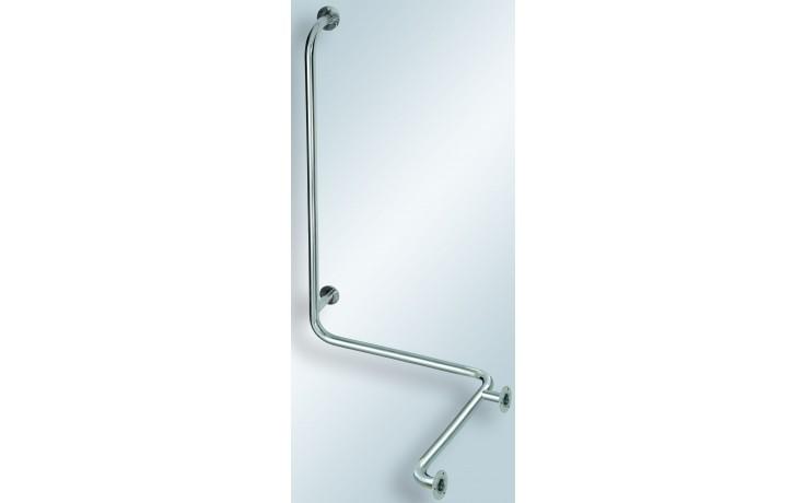 AZP BRNO REHA madlo do sprchy 672x789x1100mm se svislou opěrou, levé, nerez lesk