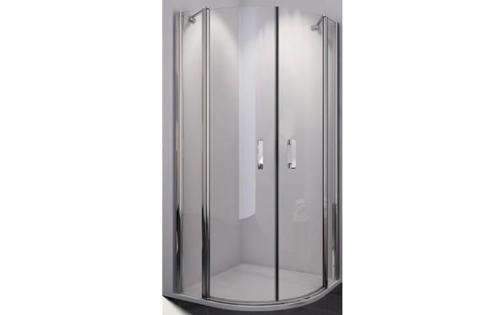 SANSWISS SWING-LINE SLR sprchový kout, 1000x1000x1950mm, R550mm, čtvrtkruhový, dvoukřídlý, aluchrom/čiré sklo