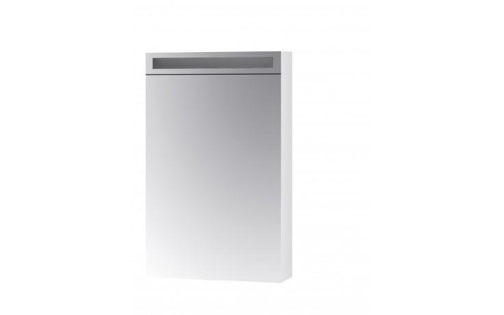 Nábytek zrcadlová skříňka Dřevojas MAX 50 L/P s LED osvětlením 50x82x13,9 cm bílá