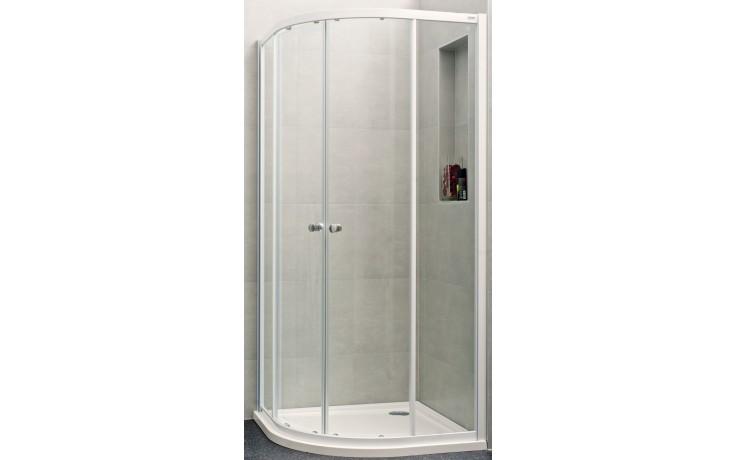 Zástěna sprchová čtvrtkruh - sklo Concept 100 NEW 900x900x1900/R500 mm bílá/čiré AP