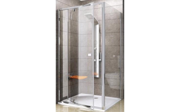 RAVAK PIVOT PPS 80 pevná stěna 770-795x1900mm jednodílná, satin/transparent 90G40U00Z1