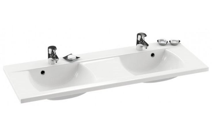 RAVAK CLASSIC 1300 dvojumyvadlo 1300x490x203mm z litého mramoru, bílá XJD01113000