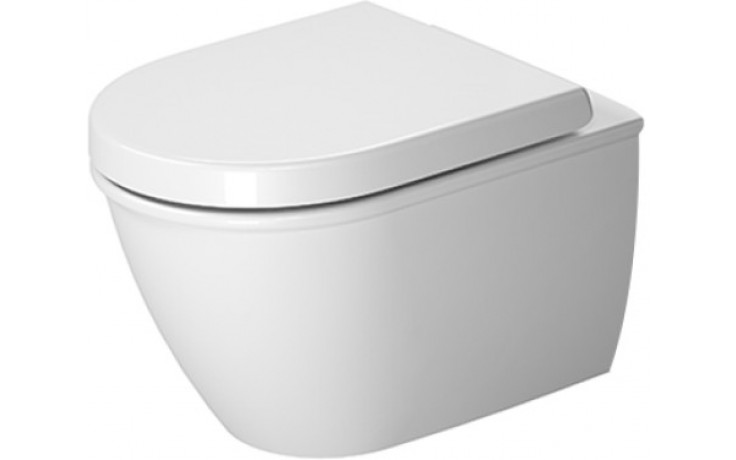 DURAVIT DARLING NEW závěsný klozet Compact 360x485mm s hlubokým splachováním, bílá/wonder gliss 25490900001