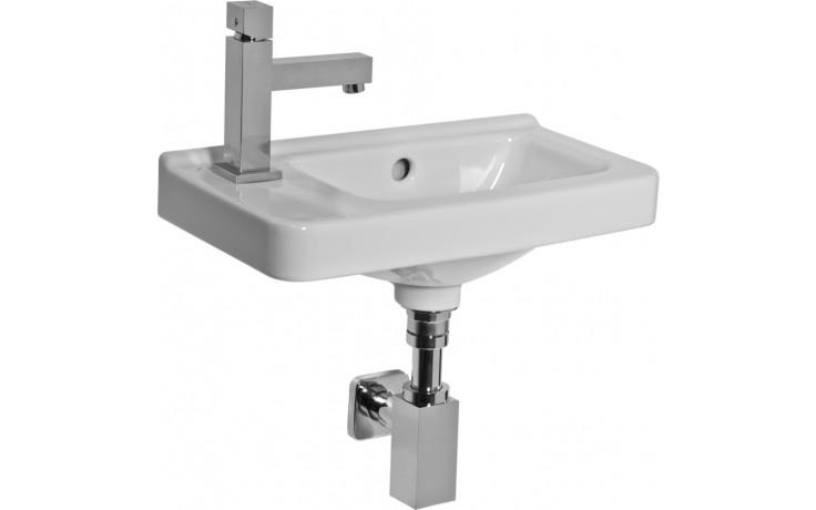 JIKA CUBITO asymetrické umývátko 450x250mm s otvorem, bílá 8.1142.3.000.105.1