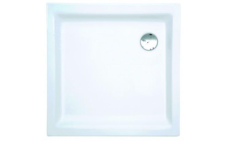 Vanička plastová - čtverec CONCEPT 100 NEW 90x90x6,5cm, odtok 90mm bílá