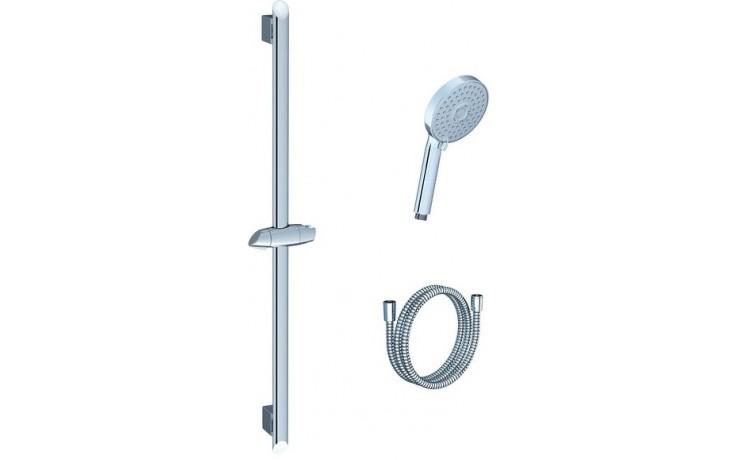 RAVAK 902.00 sprchový set hadice 1500mm, tyč 700mm, růžice plochá, 3 funkce, chrom X07P177