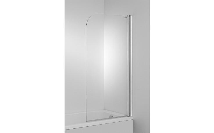 JIKA CUBITO jednodílná vanová zástěna 750x1400mm levá, transparentní