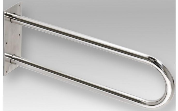 AZP BRNO REHA podpěrné madlo 600x100x250mm, tvar U, nerez lesk
