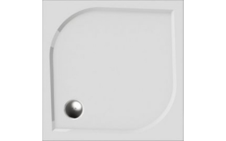Vanička drcený mramor Teiko čtverec Draco 90 litá, vč.noh 90x90x3cm bílá