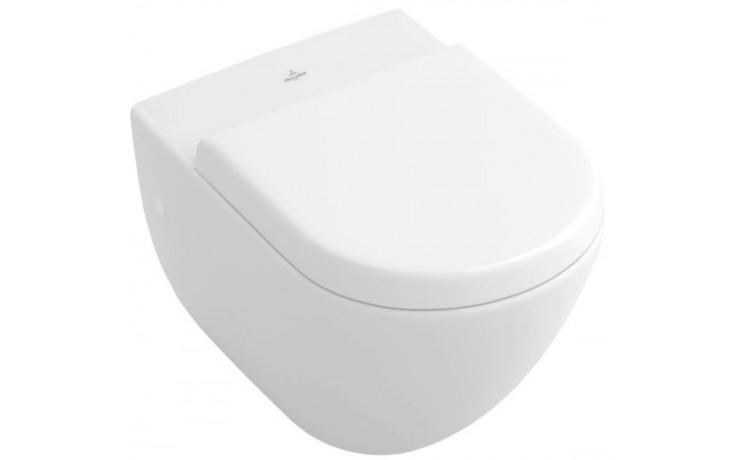 WC závěsné Villeroy & Boch odpad vodorovný Subway, ploché 370x560mm Bílá Alpin
