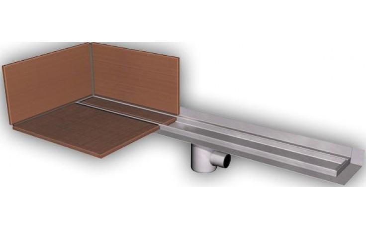 AZP BRNO PZ 014L.800 podlahový žlab 800mm, pro vložení kachliček, nerez ocel