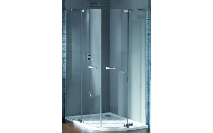 Zástěna sprchová čtvrtkruh Huppe sklo Studio Paris elegance 90x90x200 cm chrom/bílá/čiré AP
