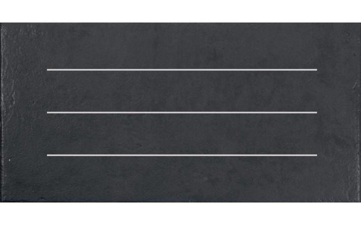 Dlažba Rako Clay pruhy 30x60 cm černá